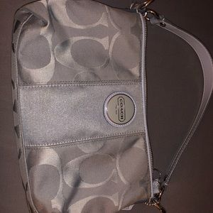 Signature COACH baby blue handbag